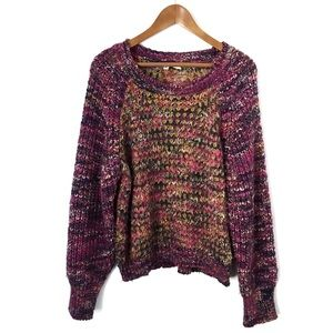 Anthropologie Moth Chunky Knit Multi-Color Sweater